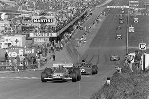 Clay Regazzoni, Ferrari 312B2, François Cevert, Tyrrell 002 Ford