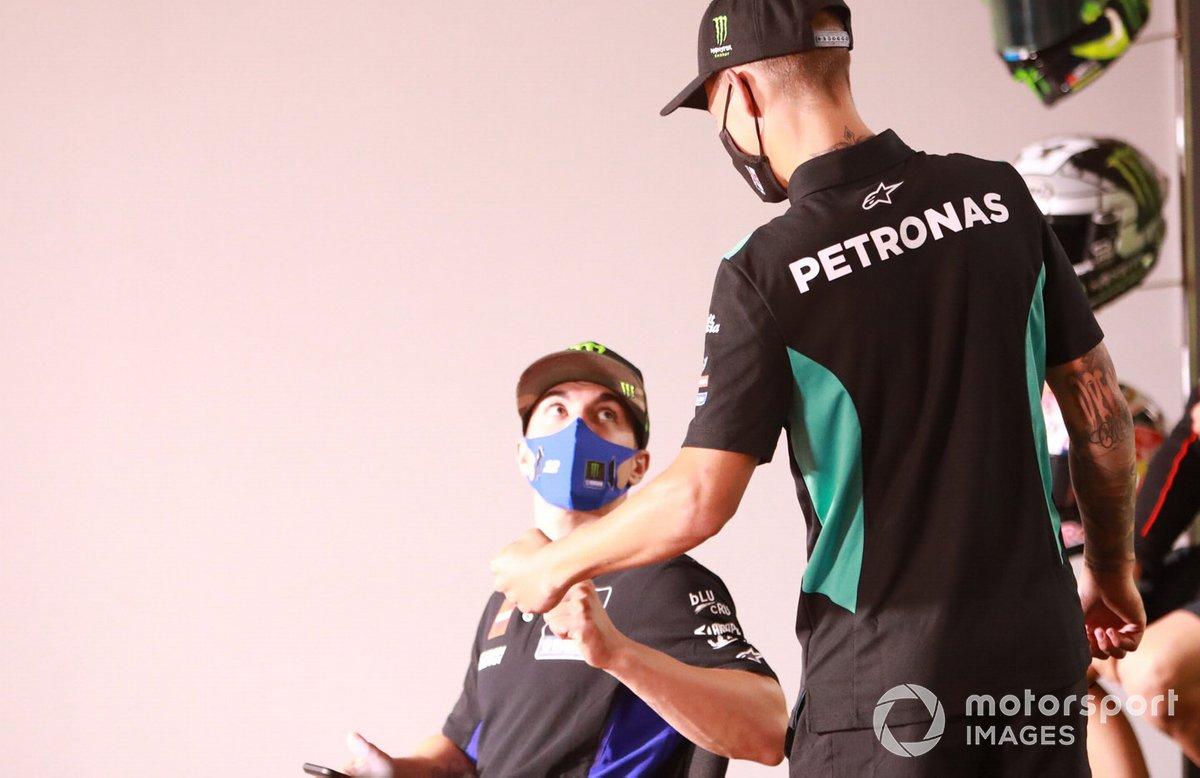 Maverick Viñales, Yamaha Factory Racing, Fabio Quartararo, Petronas Yamaha SRT