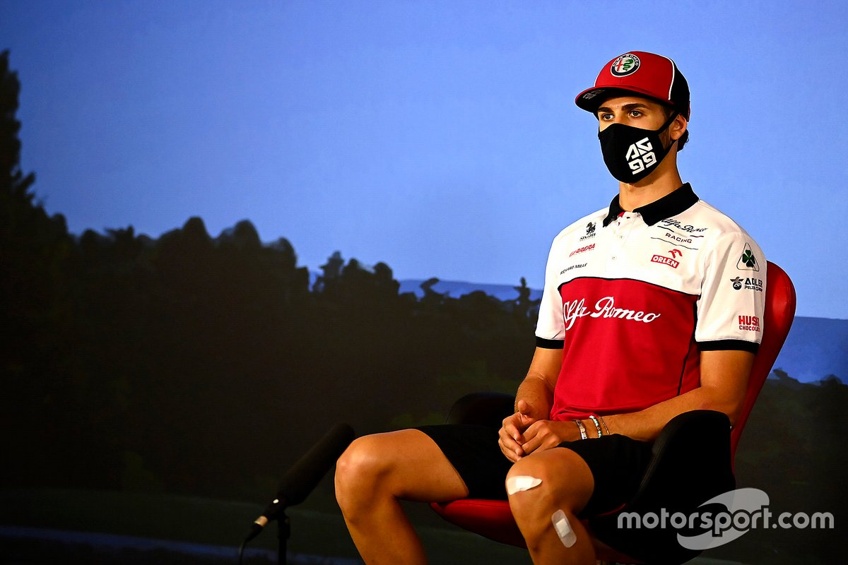 Antonio Giovinazzi, Alfa Romeo in the press conference