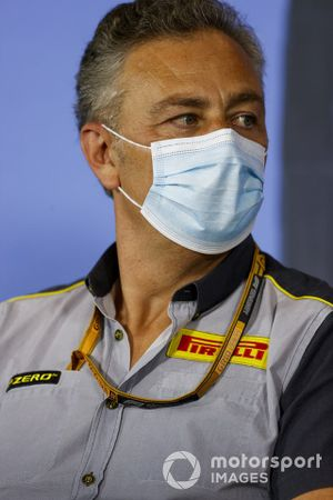 Mario Isola, Racing Manager, Pirelli Motorsport in the press conference