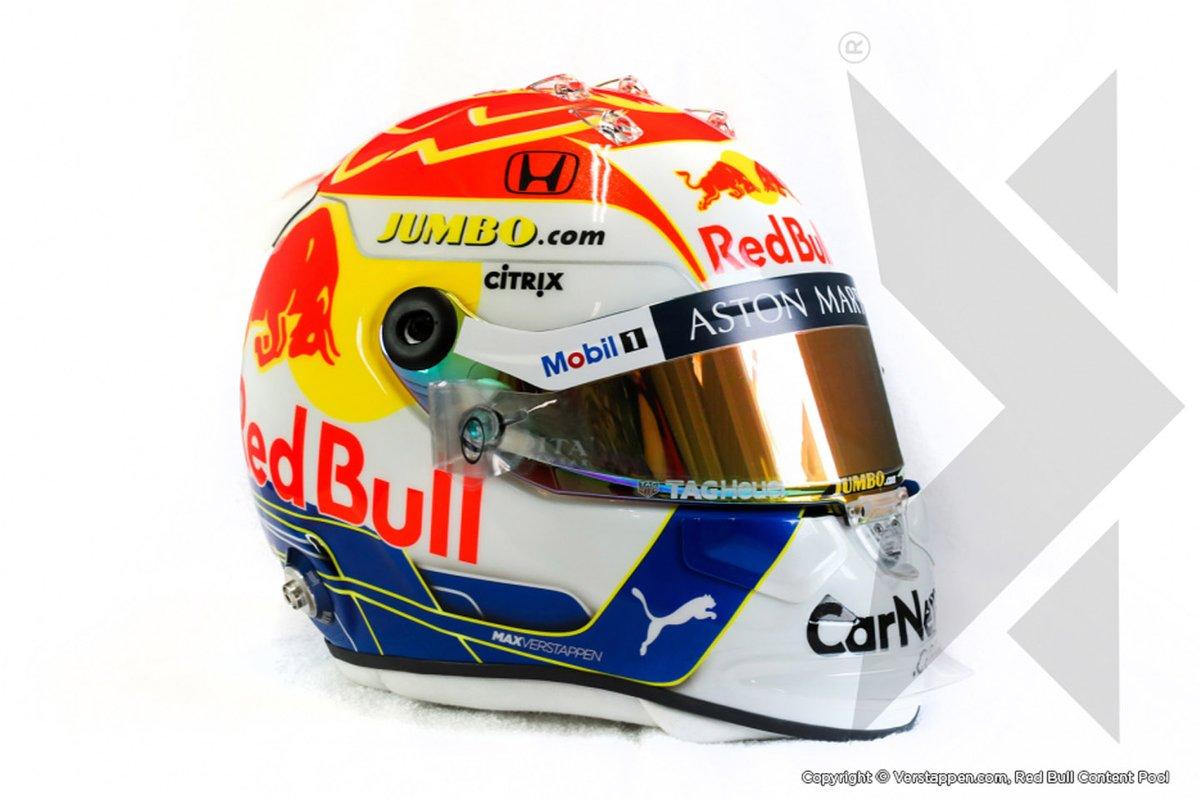 Helm van Max Verstappen, Red Bull Racing