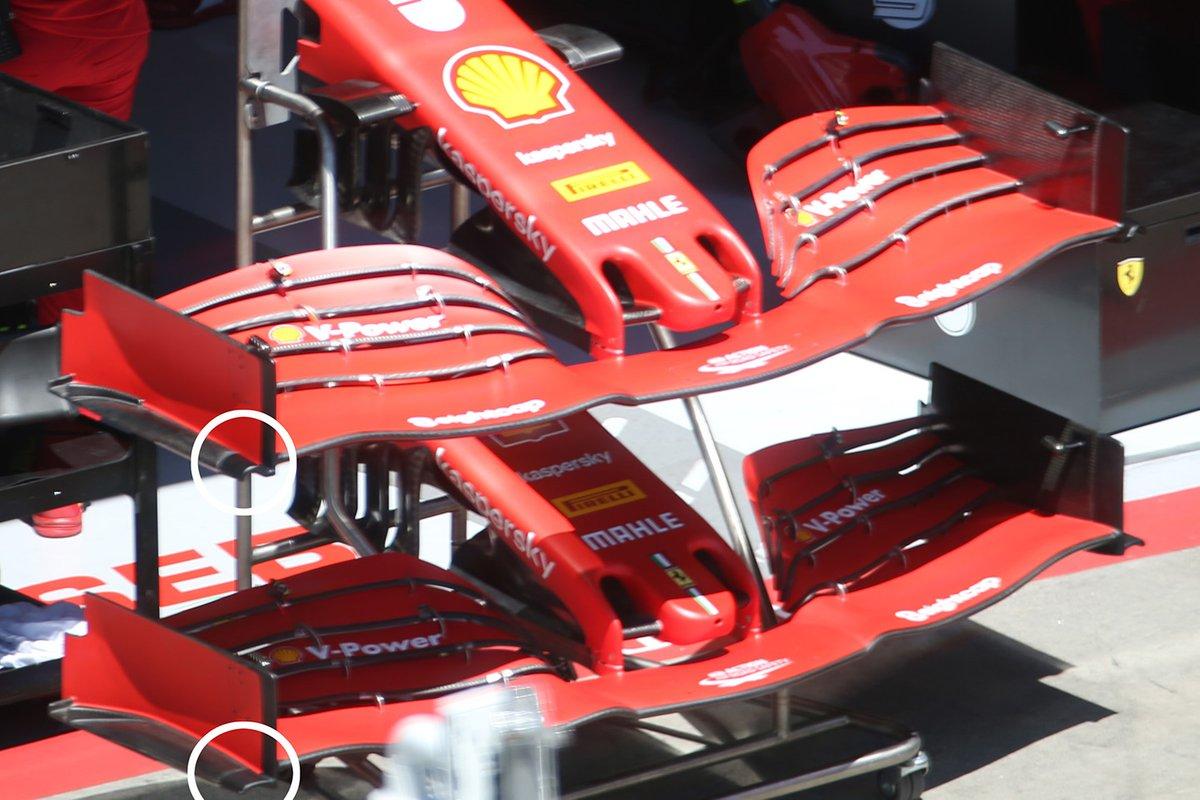 Alerones delanteros de Sebastian Vettel, Ferrari SF1000