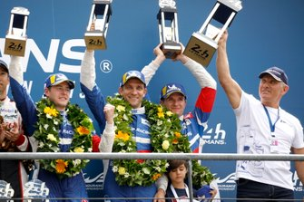 Podium: second place #11 SMP Racing BR Engineering BR1: Mikhail Aleshin, Vitaly Petrov, Stoffel Vandoorne