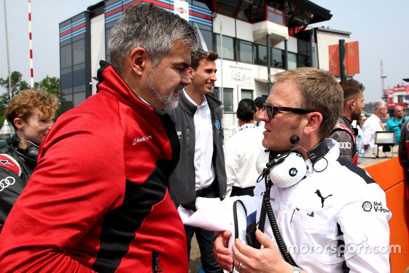 Dieter Gass, Capo della DTM Audi Sport, Stefan Reinhold, team principal, BMW Team RMG