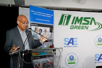 Conferenza stampa IMSA Green. Il CEO IMSA Scott Atherton, EPA, SAE, Smartway