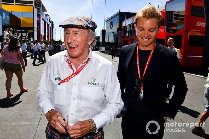 Sir Jackie Stewart que completou 80 anos no dia 11 de junho e Nico Rosberg