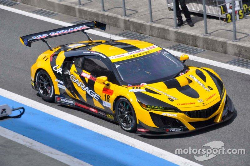 #18 Team Upgarage With Bandoh Honda NSX GT3 Evo: Takashi Kobayashi, Kosuke Matsuura