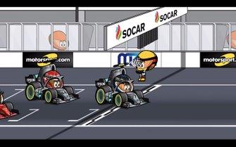 El final del GP de Azerbaiyán 2019 de F1