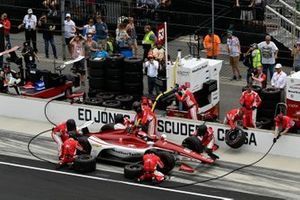 Ed Jones, Ed Carpenter Racing Scuderia Corsa Chevrolet pit stop
