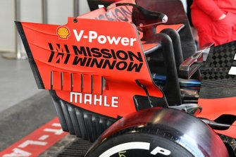 Rear wing on Ferrari SF90