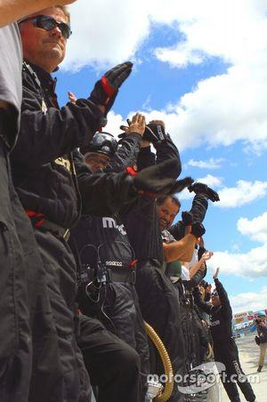 #55 Mazda Team Joest Mazda DPi crew celebrates