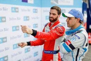 Jérôme d'Ambrosio, Mahindra Racing, explains what happened on his superpole lap to Felipe Massa, Venturi Formula E