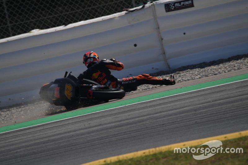 Pol Espargaró, KTM Factory Racing, caída test Barcelona