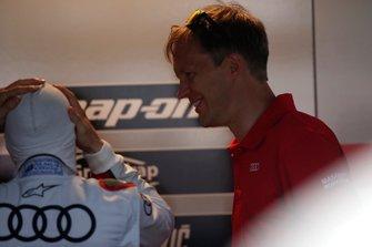 Mattias Ekström with Andrea Dovizioso, Audi Sport Team WRT