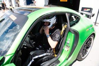 Valtteri Bottas, Mercedes AMG F1, in a Hot Laps car