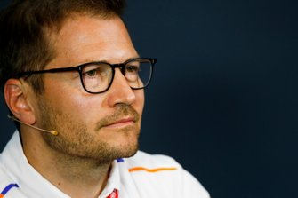 Andreas Seidl, Team Principal, McLaren, in the team principals Press Conference