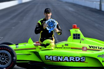 Simon Pagenaud, Team Penske Chevrolet NTT P1 award and pole winner, front row