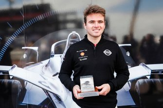 Pole sitter Oliver Rowland, Nissan e.Dams, Nissan IMO1