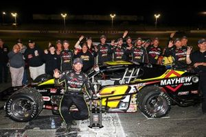 #2 Doug Coby, Mayhew Tools / AJ Romano Construction Chevrolet, celebrates in victory lane