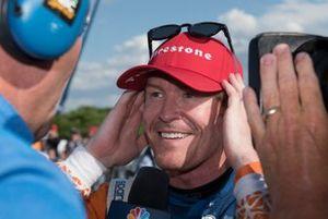 Scott Dixon, Chip Ganassi Racing Honda, interviewed after race win.