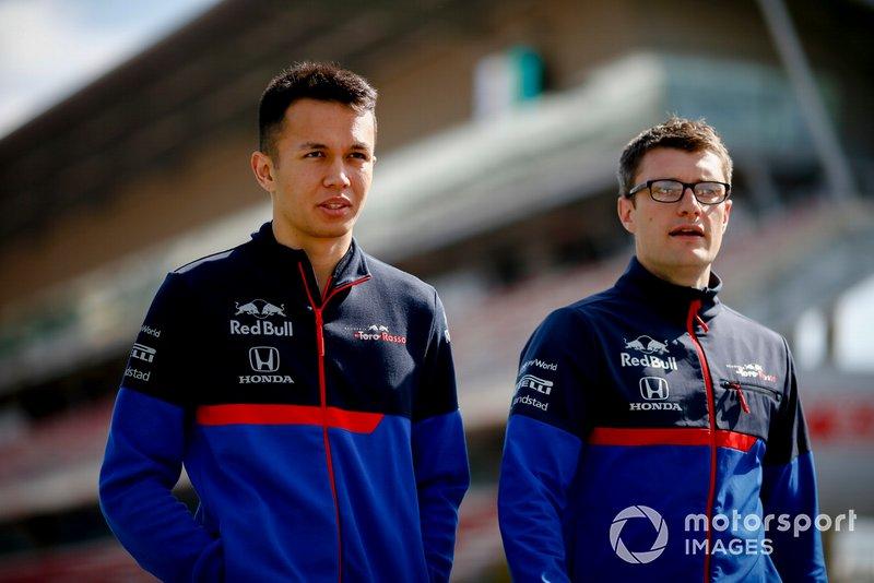 Alexander Albon, Toro Rosso fait un trackwalk