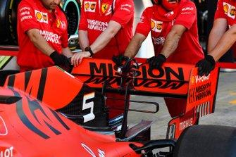 Technical detail of a Ferrari SF90