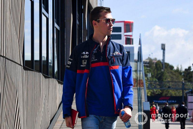 Daniil Kvyat, Toro Rosso nel paddock
