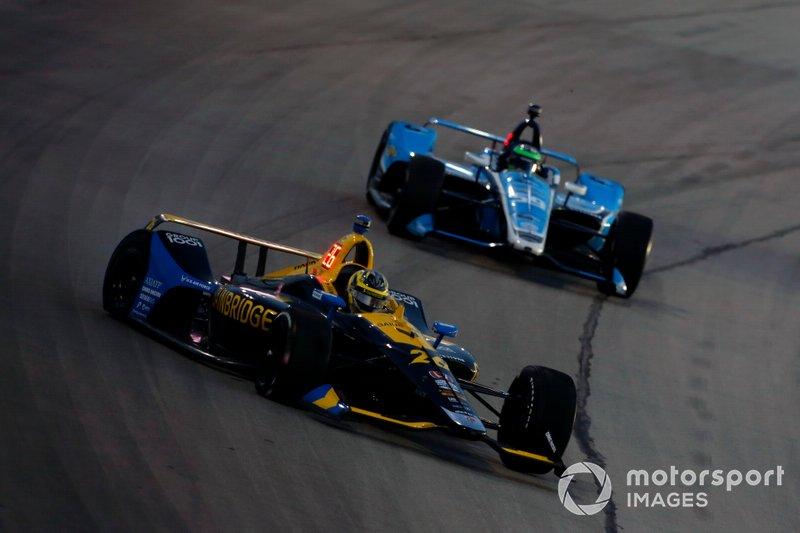 Zach Veach, Andretti Autosport Honda hace un trompo
