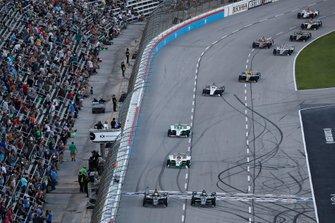 Spencer Pigot, Ed Carpenter Racing Chevrolet, Josef Newgarden, Team Penske Chevrolet