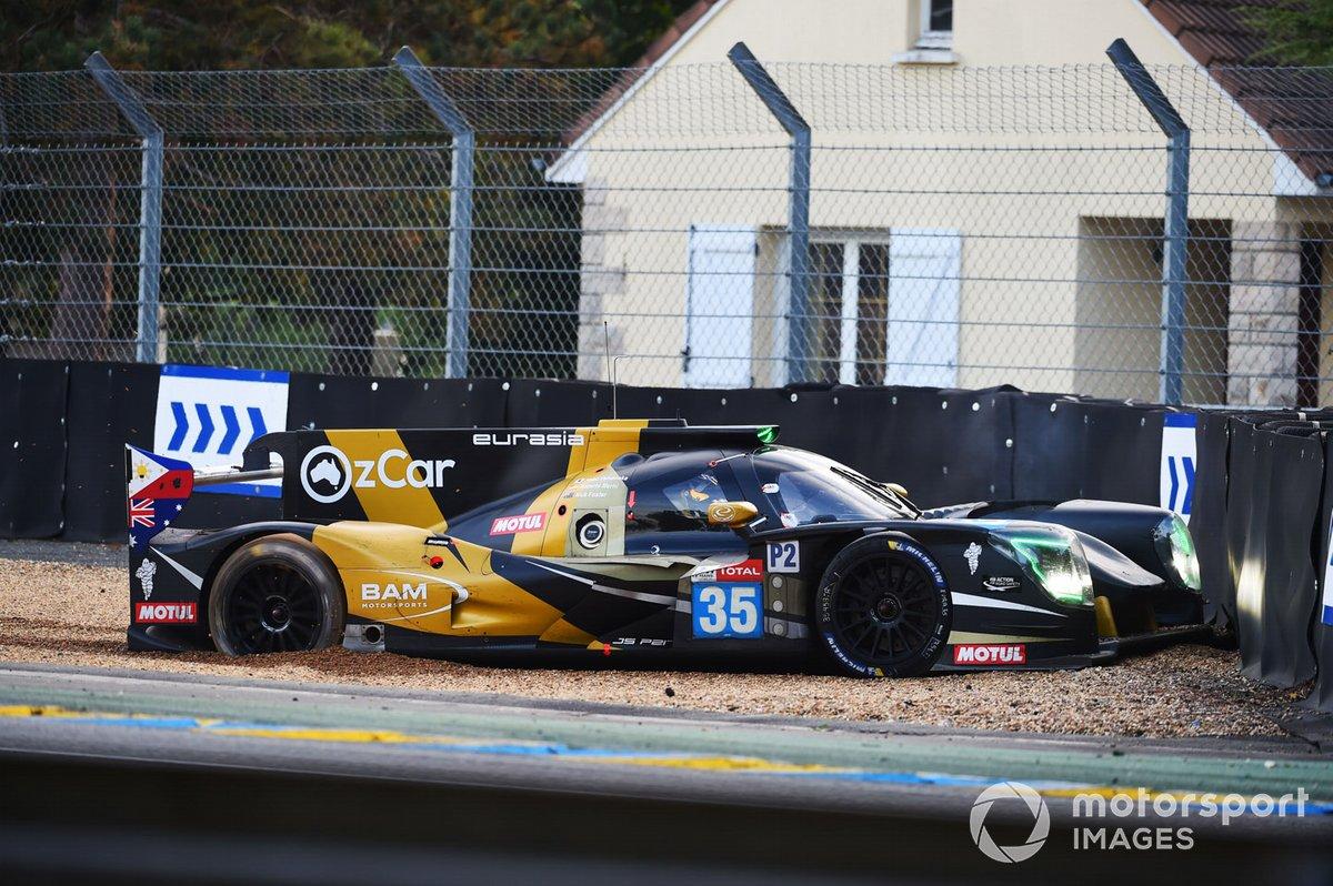 Choque del #35 Eurasia Motorsport Ligier JSP217 - Gibson: Nobuya Yamanaka, Nick Foster, Roberto Merhi