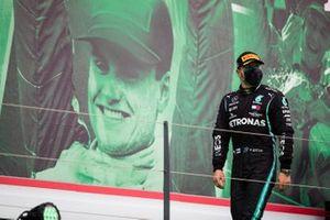 Valtteri Bottas, Mercedes-AMG F1, 2nd position, arrives on the podium