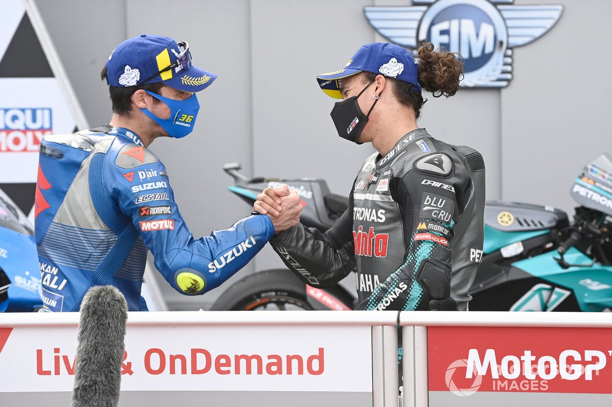 Franco Morbidelli, Petronas Yamaha SRT, Joan Mir, Team Suzuki MotoGP