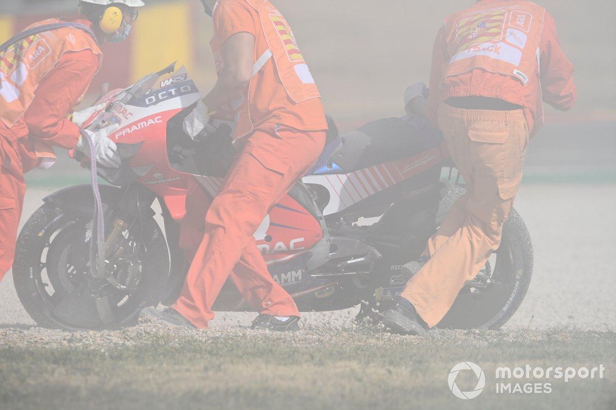 Caduta di Jack Miller, Pramac Racing