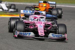 Lance Stroll, Racing Point RP20, Lando Norris, McLaren MCL35