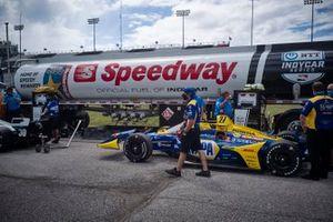 Alexander Rossi, Andretti Autosport Honda, SpoeedwayJosef Newgarden, Team Penske Chevrolet, podium