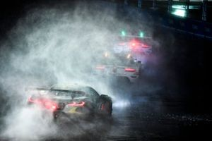 #911 Porsche GT Team Porsche 911 RSR - 19, GTLM: Nick Tandy, Fred Makowiecki, #912 Porsche GT Team Porsche 911 RSR - 19, GTLM: Laurens Vanthoor, Earl Bamber, #4 Corvette Racing Corvette C8.R, GTLM: Oliver Gavin, Tommy Milner
