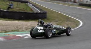 Shirley van der Lof in auto van Dries van der Lof, Historic Grand Prix 2019 Zandvoort