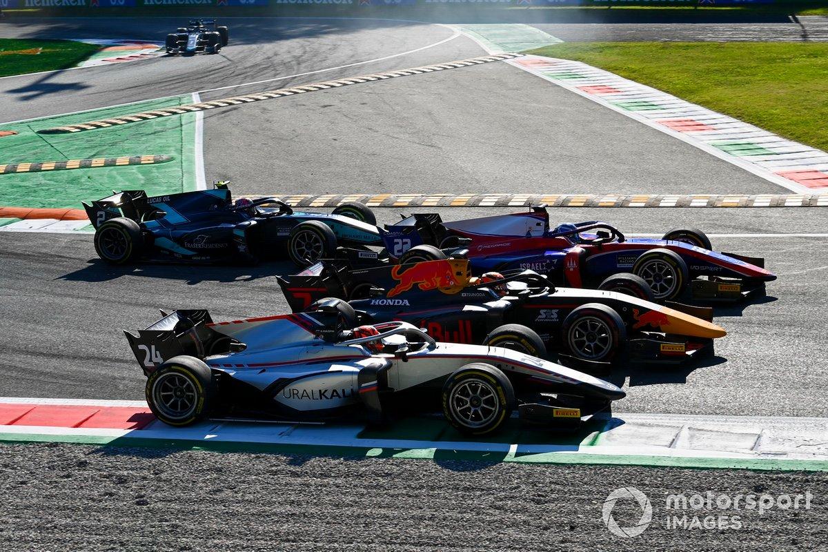 Nikita Mazepin, Hitech Grand Prix, Yuki Tsunoda, Carlin, Roy Nissany, Trident battle