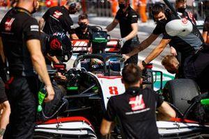 Romain Grosjean, Haas VF-20, in the pits