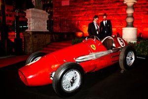 Sebastian Vettel, Ferrari with Louis Camilleri, Ferrari CEO