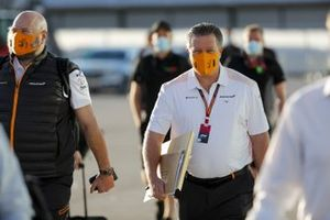 Zak Brown, Executive Director, McLaren arrives
