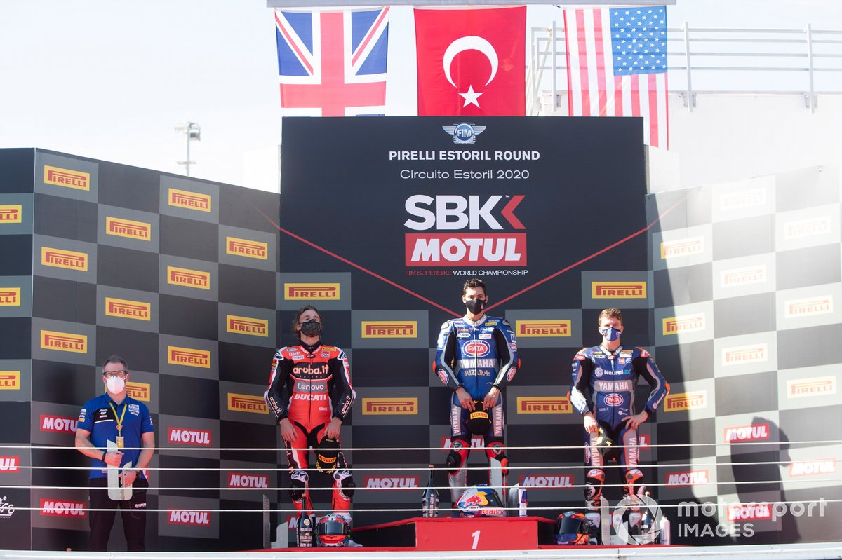Chaz Davies, ARUBA.IT Racing Ducati, Jonathan Rea, Kawasaki Racing Team, Garrett Gerloff, GRT Yamaha