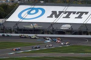 Scott Dixon, Chip Ganassi Racing Honda, Felix Rosenqvist, Chip Ganassi Racing Honda, Rinus VeeKay, Ed Carpenter Racing Chevrolet