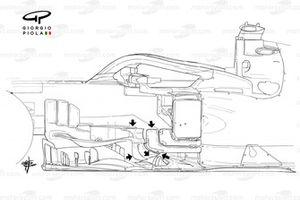 Ferrari SF1000 old bargeboard Russian GP