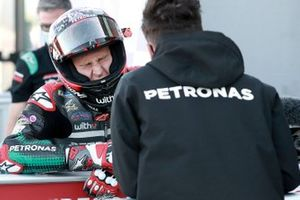 Polesitter Fabio Quartararo, Petronas Yamaha SRT, in pain from hip injury