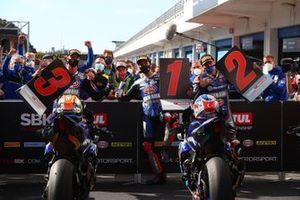 Michael van Der Mark, Pata Yamaha, Toprak Razgatlioglu, Pata Yamaha, Garrett Gerloff, GRT Yamaha