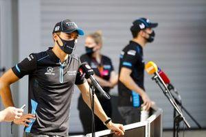 George Russell, Williams Racing and Nicholas Latifi, Williams Racing speak to the media