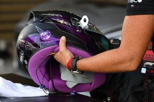 The helmet of Lewis Hamilton, Mercedes-AMG F1