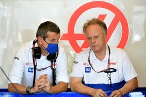 Guenther Steiner, Team Principal, Haas F1, and Gene Haas, Owner and Founder, Haas F1