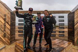 Molly Taylor, Johan Kristoffersson, Rosberg X Racing con Nico Rosberg, fundador y director general de Rosberg X Racing, 1ª posición